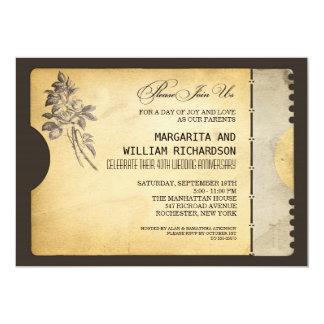 aniversário de casamento à moda do bilhete do convite 12.7 x 17.78cm