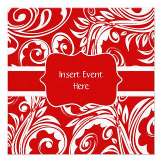 Aniversário de casamento branco vermelho do noivad convites personalizado