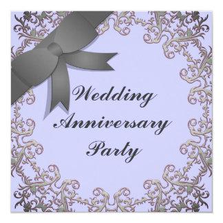 Aniversário de casamento convite quadrado 13.35 x 13.35cm