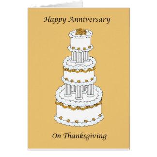 Aniversário de casamento da acção de graças cartão comemorativo