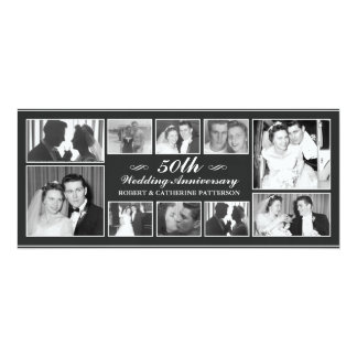 Aniversário de casamento da celebração 50th da convite 10.16 x 23.49cm