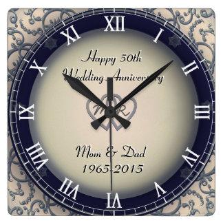 Aniversário de casamento decorativo relógios de paredes