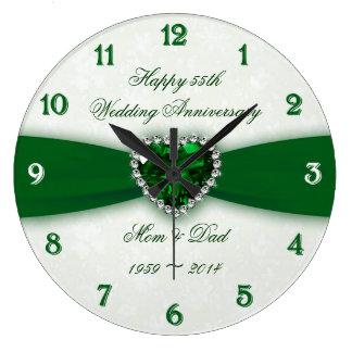 Aniversário de casamento do damasco 55th relógios para paredes
