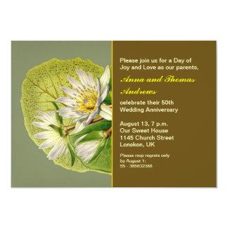 aniversário de casamento do jardim convite 12.7 x 17.78cm