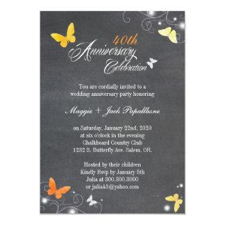 Aniversário de casamento do quadro do vintage convite 12.7 x 17.78cm