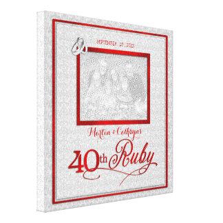 Aniversário de casamento do rubi - foto 11x11-inch