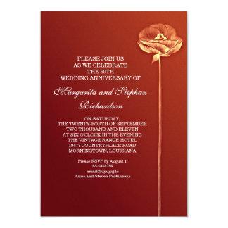 aniversário de casamento moderno convite 12.7 x 17.78cm