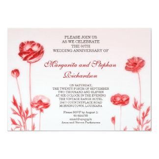 aniversário de casamento romântico convite 12.7 x 17.78cm