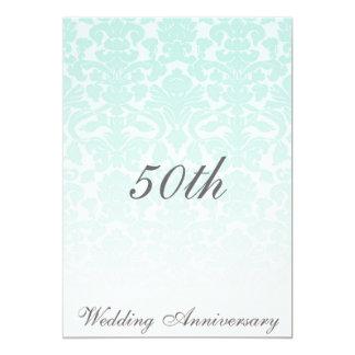 Aniversário de casamento tema damasco simplesmente convite 12.7 x 17.78cm