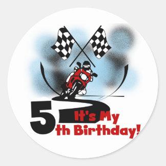 Aniversário de competência da motocicleta 5o adesivo