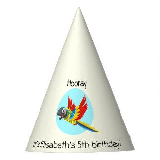 Aniversário de criança colorido feliz dos desenhos chapéu de festa