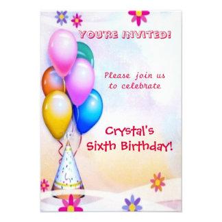 Aniversário de criança convite