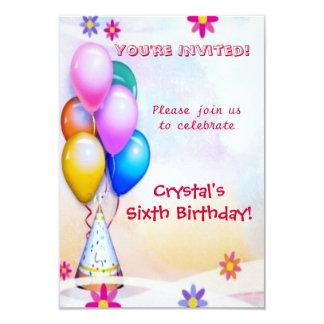 Aniversário de criança convite 8.89 x 12.7cm