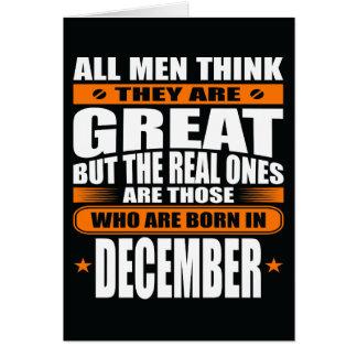 Aniversário de dezembro (adicione seu texto) cartão comemorativo