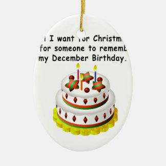Aniversário de dezembro enfeites