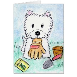 Aniversário de jardinagem etc. do cartão de Westie