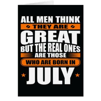 Aniversário de julho (adicione seu texto) cartão comemorativo