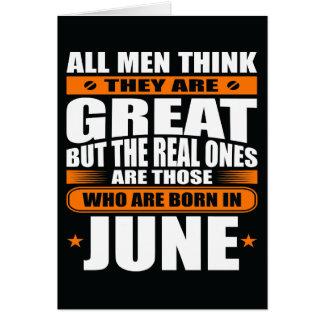 Aniversário de junho (adicione seu texto) cartão comemorativo