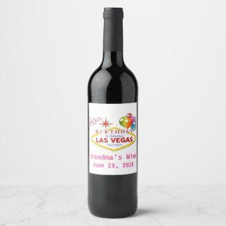 Aniversário de Las Vegas da etiqueta 60th do vinho