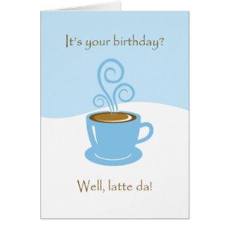Aniversário de Latte a Dinamarca, cartão do copo