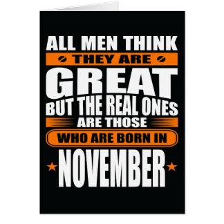 Aniversário de novembro (adicione seu texto) cartão comemorativo