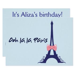 Aniversário de Paris da torre Eiffel Convite 12.7 X 17.78cm