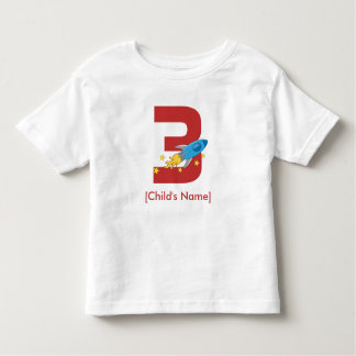 Aniversário de Rocket retro Camiseta Infantil