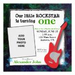 Aniversário de Rockstar da guitarra & do menino da Convite Personalizado