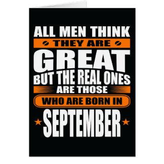 Aniversário de setembro (adicione seu texto) cartão comemorativo