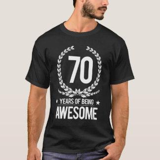 aniversário do 70 (70 anos de ser impressionantes) camiseta