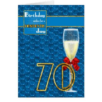 aniversário do 70 - cartão de aniversário