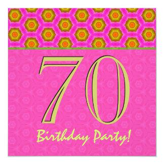 aniversário do 70 ou alguns rosa do ano e verde