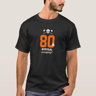 aniversário do 80 - ainda balançando - crânio do camiseta