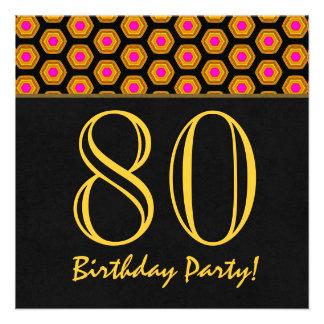 aniversário do 80 ou algum V01 do ouro do ano e o Convites Personalizado