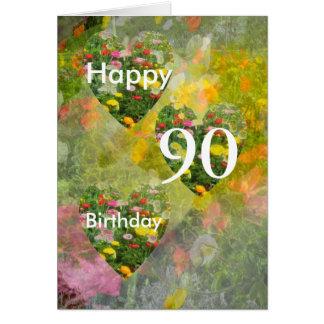 aniversário do 90 cartão comemorativo
