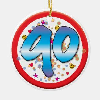 aniversário do 90 ornamento para arvore de natal