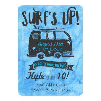 Aniversário do adolescente - tema do surf convite 12.7 x 17.78cm