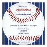 Aniversário do basebol convite quadrado 13.35 x 13.35cm