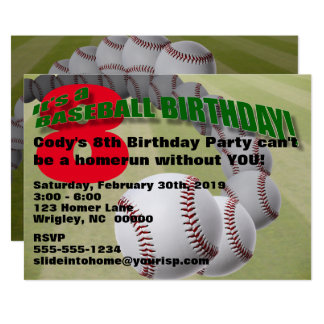 Aniversário do basebol! CONVITE DE FESTAS