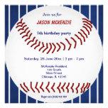 Aniversário do basebol convite personalizados