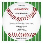 Aniversário do basebol convites