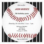 Aniversário do basebol convites personalizados
