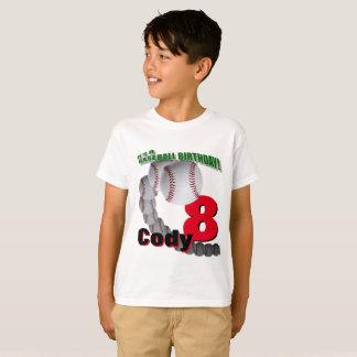 Aniversário do basebol - T-SHIRT feito sob Camiseta