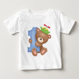 Aniversário do bebê 1 ano - ursinho tshirts