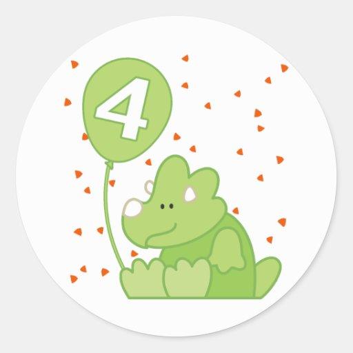 Aniversário do bebê de Dino 4o Adesivo