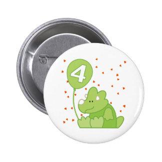 Aniversário do bebê de Dino 4o Botons