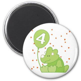 Aniversário do bebê de Dino 4o Imã De Refrigerador