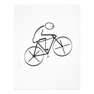 Aniversário do Bicyclist Panfletos