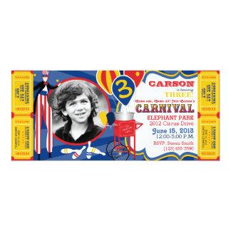 Aniversário do caminhante do Stilt do circo do Convite 10.16 X 23.49cm