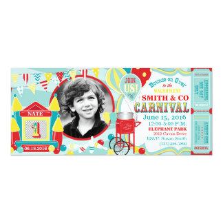 Aniversário do carnaval da casa do salto convite 10.16 x 23.49cm